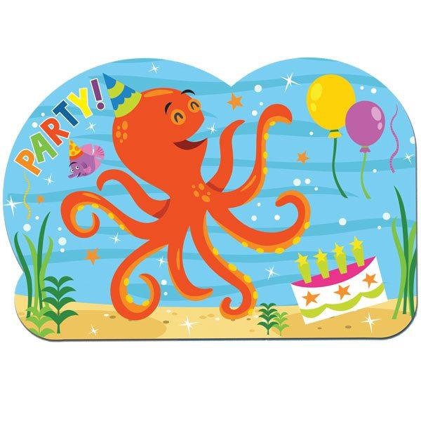 Ocean Buddies Party Postcard Invites
