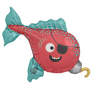 Pirate Fish Foil Supershape Balloon