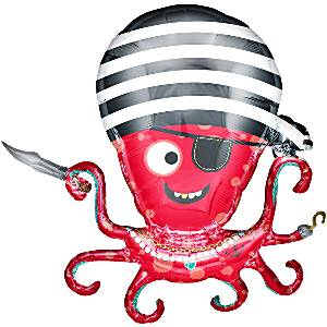 Pirate Octopus Foil Supershape Balloon