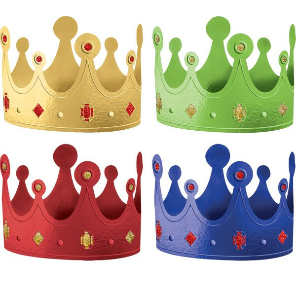 Primary Colour Crowns
