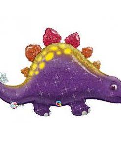 Purple Stegosaurus Dinosaur Birthday Foil Balloon