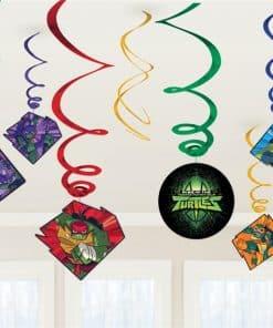 Ninja Turtles Party Hanging Swirl Decorations