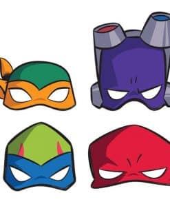 Rise of Teenage Mutant Ninja Turtles Paper Masks