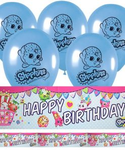 Shopkins Party Foil Banner & Latex Balloon Kit