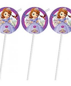 Sofia the First Party Drinking Straws