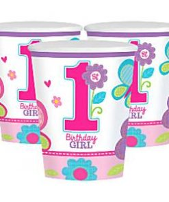 Sweet Girl 1st Birthday Party Paper Cups