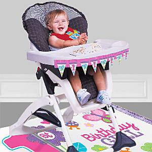Sweet Girl 1st Birthday Party High Chair Decorating Kit