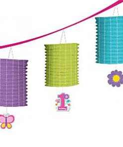 Sweet Girl 1st Birthday Party Lantern Garland
