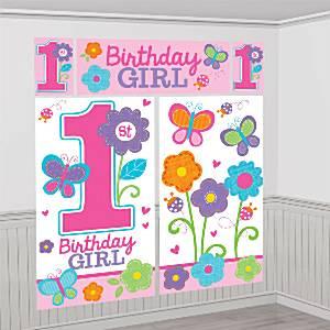 Sweet Girl 1st Birthday Party Scene Setter