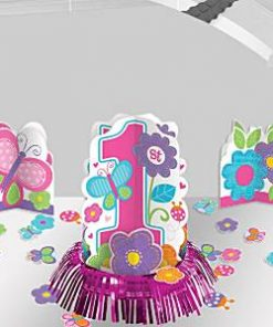 Sweet Girl 1st Birthday Party Table Decorating Kit