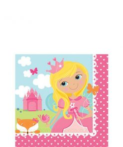 Woodland Princess Party Paper Beverage Napkins