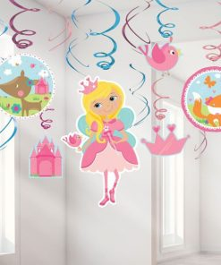 Woodland Princess Party Hanging Swirls Decorations