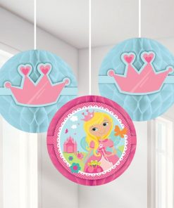 Woodland Princess Party Honeycomb Decorations