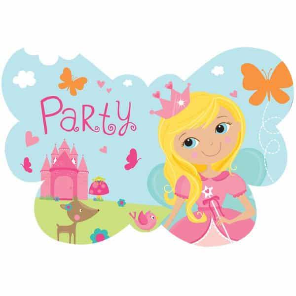 Woodland Princess Party Invitations & Envelopes