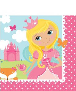 Woodland Princess Party Paper Luncheon Napkins