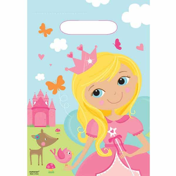 Woodland Princess Party Plastic Loot Bags