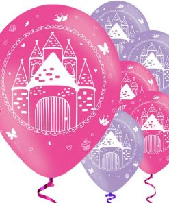 Woodland Princess Party Printed Latex Balloons