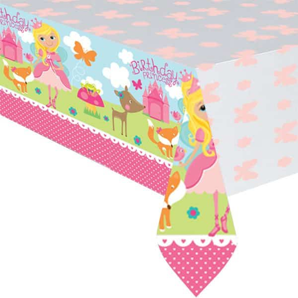 Woodland Princess Party Plastic Tablecover