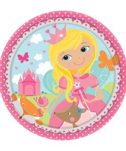 Woodland Princess Party Paper Plates - 18