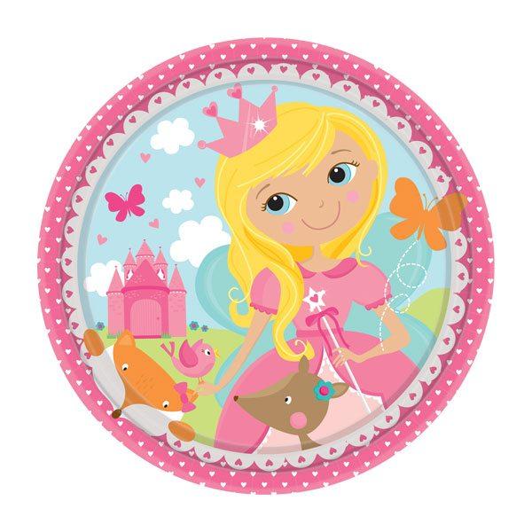 Woodland Princess Party Paper Plates - 18