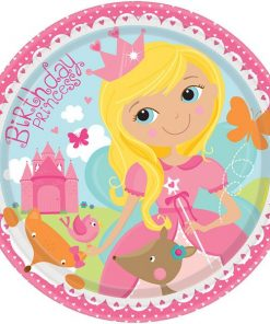 Woodland Princess Party Paper Plates