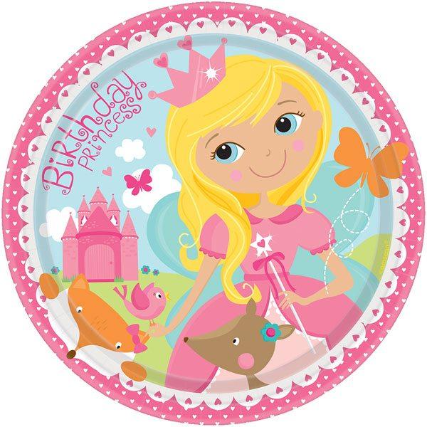 Woodland Princess Party Paper Plates