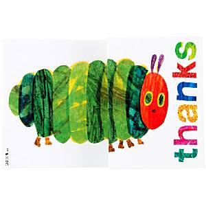 Hungry Caterpillar Party Thank You Cards