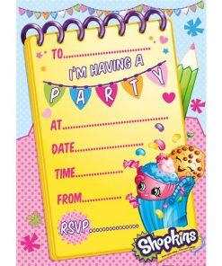 Shopkins Party Invitations