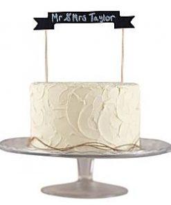 A Vintage Affair Wedding Chalkboard Cake Bunting