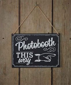 A Vintage Affair Wedding Chalkboard Photo Booth Sign
