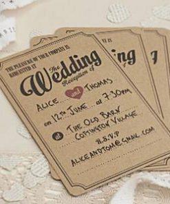 A Vintage Affair Wedding Evening Invitations