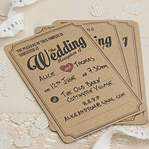 A Vintage Affair Wedding Evening Invitations