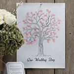 A Vintage Affair Wedding Fingerprint Tree Pink