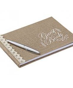 A Vintage Affair Wedding Hessian Guest Book