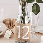 A Vintage Affair Wedding Hessian Table Numbers