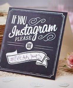 A Vintage Affair Wedding 'If You Instagram' Table Signs