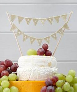 A Vintage Affair Wedding 'Just Married' Cake Bunting