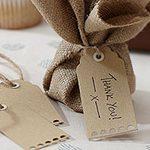 A Vintage Affair Wedding Brown Luggage Tags