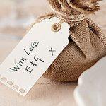 A Vintage Affair Wedding Ivory Luggage Tags