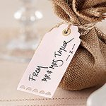 A Vintage Affair Wedding Pink Luggage Tags
