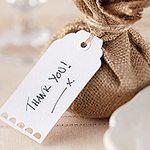 A Vintage Affair Wedding White Luggage Tags
