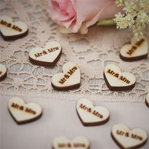 A Vintage Affair Wedding 'Mr and Mrs' Confetti
