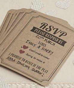 A Vintage Affair Wedding RSVP Cards