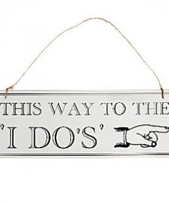 "A Vintage Affair Wedding ""This Way"" Wooden Sign"