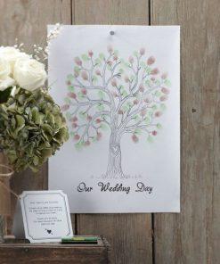A Vintage Affair Wedding Fingerprint Brown/Green Tree