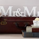 A Vintage Affair Wedding ''Mr & Mrs'' Wooden Sign