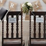"A Vintage Affair Wedding ""Mr & Mrs"" Wooden Signs"