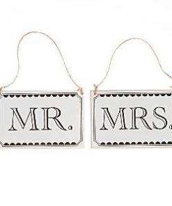 "A Vintage Affair Wedding ""Mr & Mrs"" Wooden Signs"