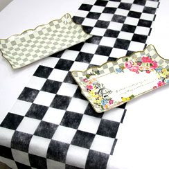Alice in Wonderland Party Themed Truly Alice Check Table Runner