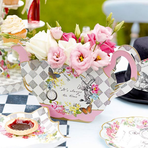 Alice in Wonderland Party Themed Truly Alice Tea Pot Centrepiece